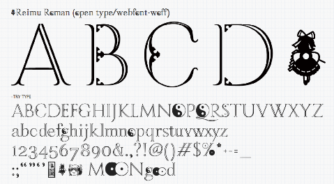 20150111 toho font project03